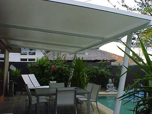 Residential shade solution - Tension Membrane