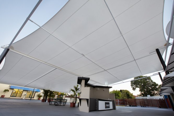 Commercial Temsion Membrane shade solution