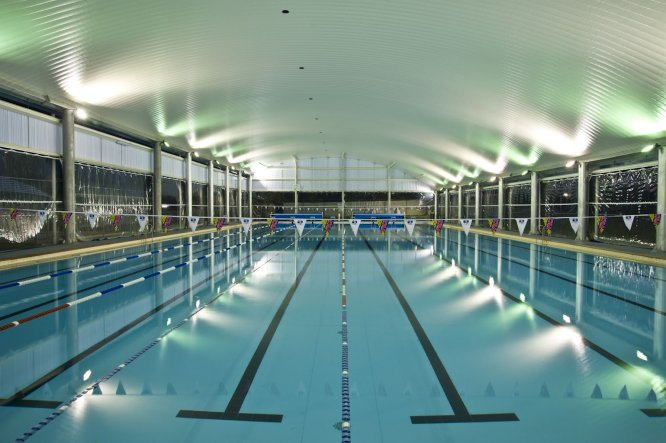 PVC Blinds at Roma Swimming Pool