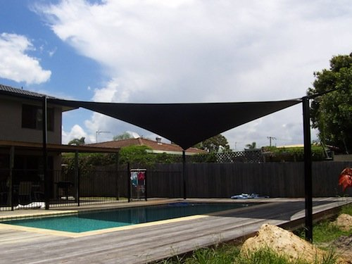 Shade sails for pool shade