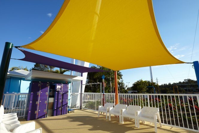 Custom shade solutions for theme parks