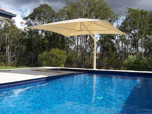Outdoor Umbrella pool shade solution
