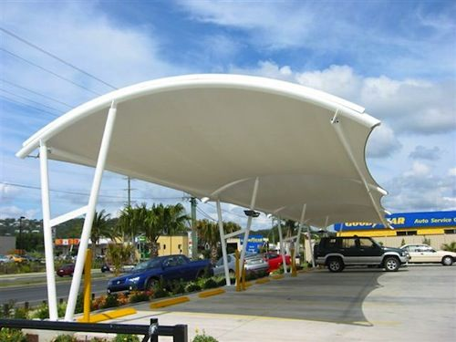 Shade Sails For Vehicles : Car park shades shelters canopies