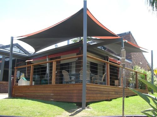 Residential shade sail domestic shade structures for for Home shade structures