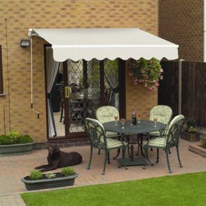 Folding arms awnings