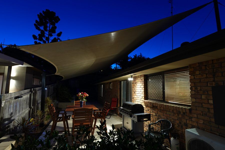 Courtyard shade structures