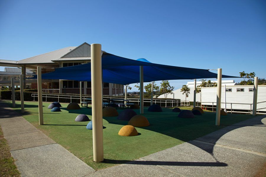 Shade structure at preschool