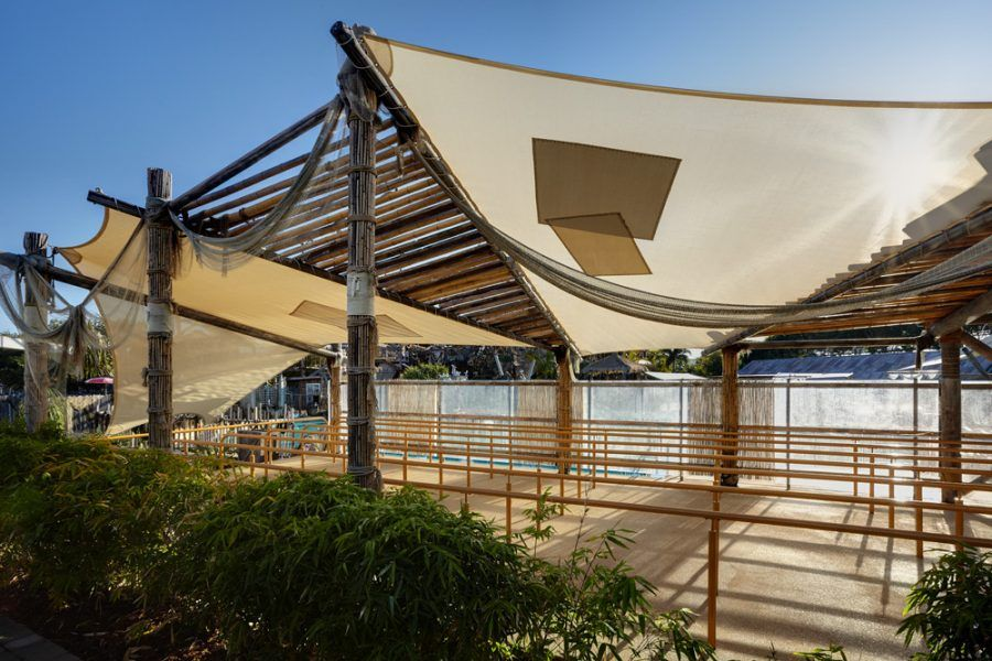custom theme park shade sails