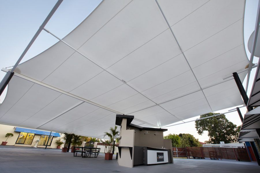 Shade canopy at race course