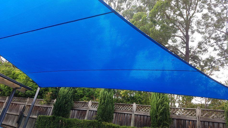Backyard shade sail manufactured by Global Shade