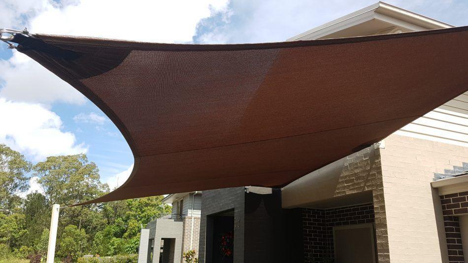 Carport shade sail at Prairiewood, NSW