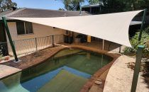 Shade Sails & Structures for Swimming Pools